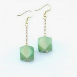 Pale green earrings